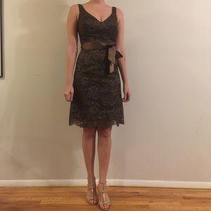 Brown lace SHOSHANNA cocktail dress